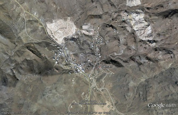 Oatman, Arizona- Map- Thursday, January 17th, 2013