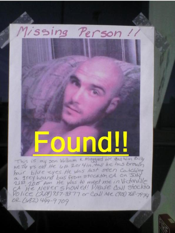 Needles, CA- Missing Man Found.- Wednesday, July 29th, 2015.