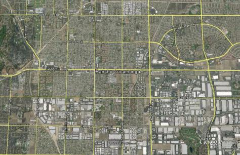 Rancho Cucamonga, California Map