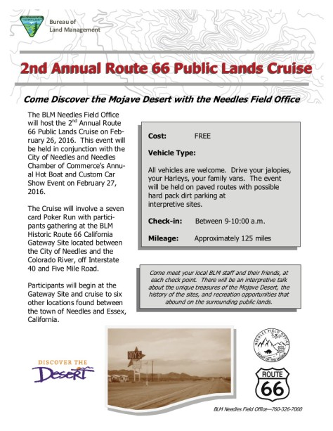 2016 Needles Route 66 Event Flyer 2016 Final