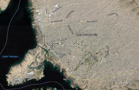 Lake Havasu City, Arizona Map