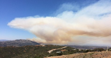 Temecula, CA - Vegetation Fire - KNBC 4 Picture