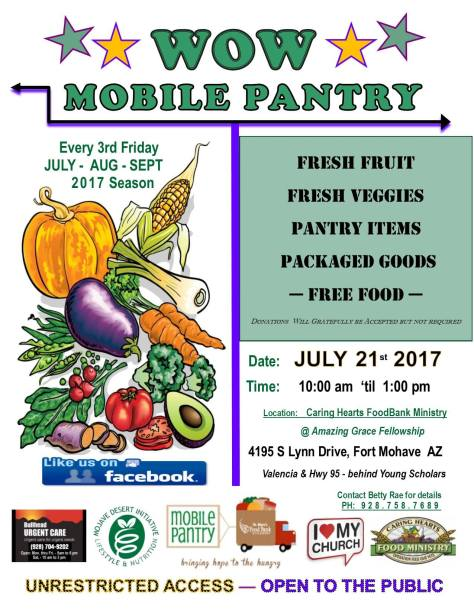Fort Mohave, AZ: WOW! Mobile Produce Pantry on Friday. | ZachNews